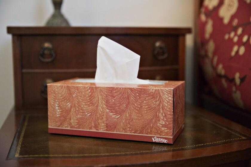 Tissue-bad news-waiting room-sad-hard conversation-difficult talk-Bloomberg