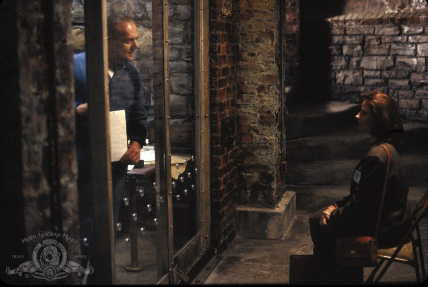 Hannibal Lecter and Clarice Starling in 'The Silence of the Lambs'