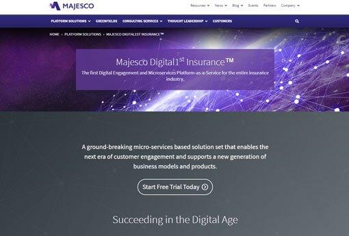Majesco home page