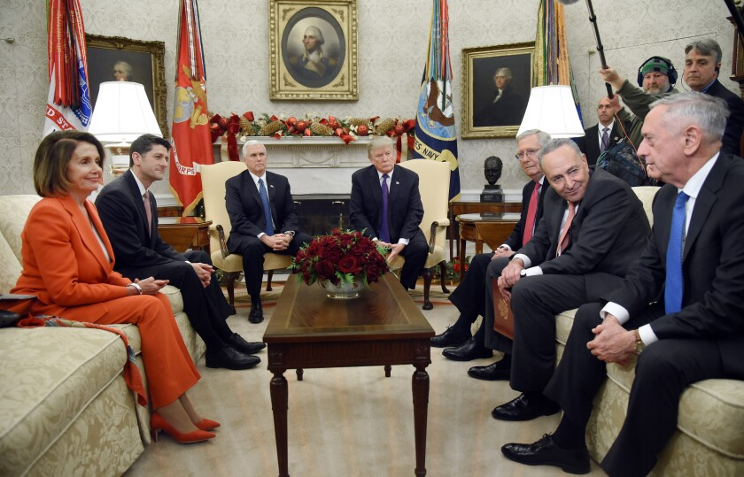 Bipartisan meeting in Oval Office