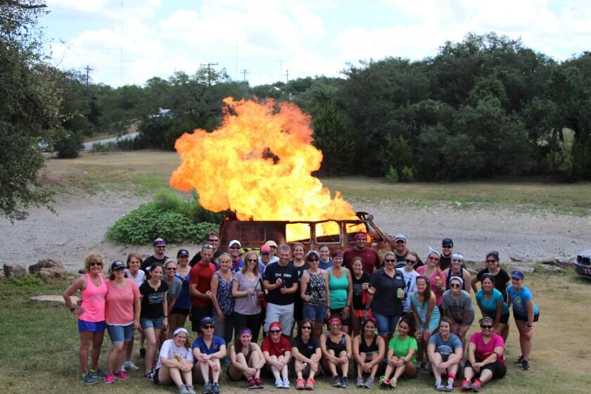 ATKG staff at a stunt ranch near Austin, Texas