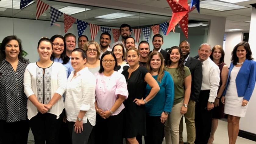 Staff members from Miami's Vizcaino Zomerfeld