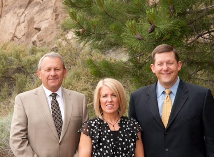 Jim Fleck, Kerry Snook and Jason Fleck, Stifel financial advisors