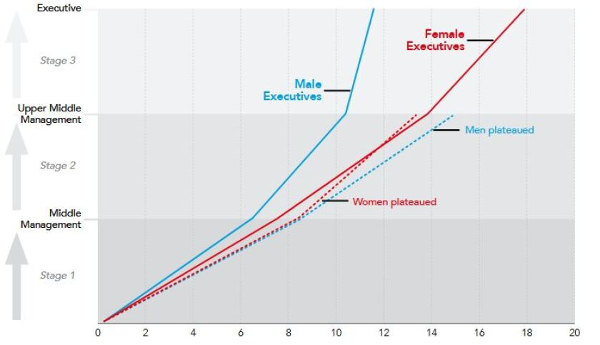 Female and male advancement in accounting and finance