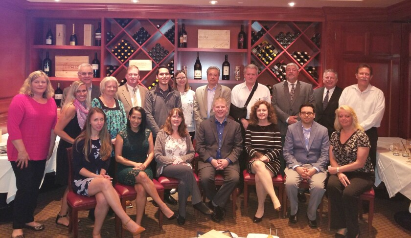 Members of the combined UHY Advisors and Del Conte, Hyde, Annello & Schuch: back row, left to right: Cherie Lafazanidis, Amanda Mich, Larry Annello, Susan Mancini, Thomas Hull, Alex Gerber, Laura Kulas, Bruce Del Conte, Edward Pratesi, John Salemi, Howard Foote, Bob Lickwar; front row (seated), left to right:  Alicia Sperling, Stephanie Marino, Marianne Seifert, Matt Merritt, Nola McLaughlin, Ryan D'Amore, Christine Turci